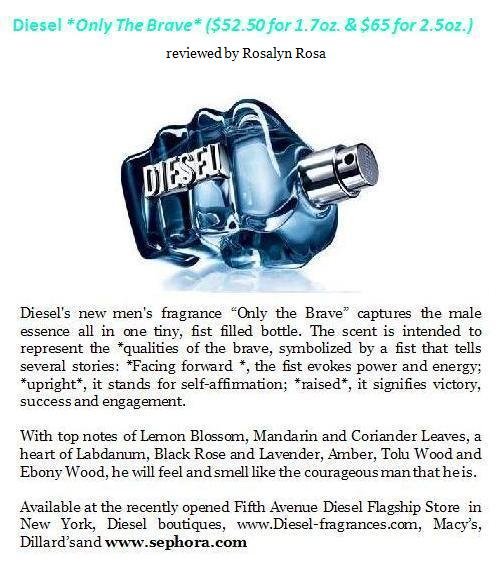 Diesel only The Brave Fragrance for Men June 30th 2009 in Beauty leave a